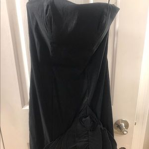 Strapless black dress size 0-2